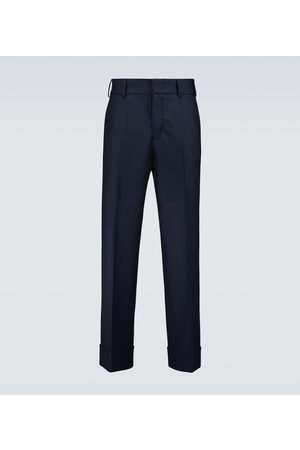 Gucci Straight-fit wool-blend pants