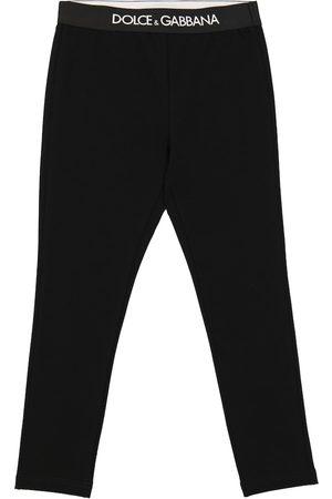 Dolce & Gabbana Logo stretch-cotton leggings