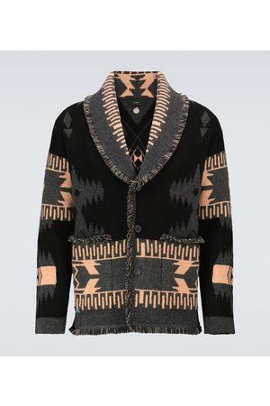 Alanui Jacquard-knitted cashmere cardigan