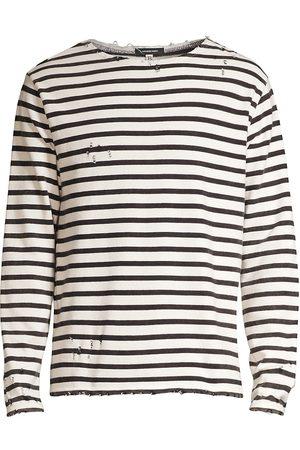 R13 Breton Striped Distressed Sweatshirt