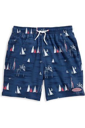 Vineyard Vines Boys Swim Shorts - Little Boy's & Boy's Sailing-Print Chappy Swim Trunks