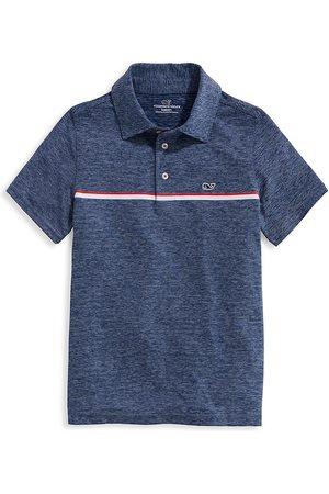 Vineyard Vines Little Boy's & Boy's Stripe Sankaty UPF 50+ Polo Shirt