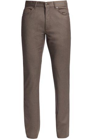 Ermenegildo Zegna Men Straight Leg Pants - Straight-Leg Wool Pants