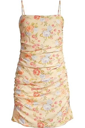 WeWoreWhat Ronnie Floral Ruched Cover-Up