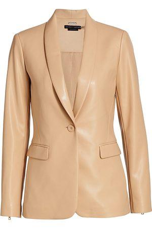 ALICE+OLIVIA Macey Faux Leather Jacket