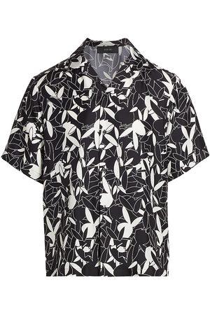 AMIRI Playboy-Print Silk Shirt