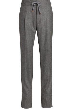 Brunello Cucinelli Leisure Wool Flannel Pants