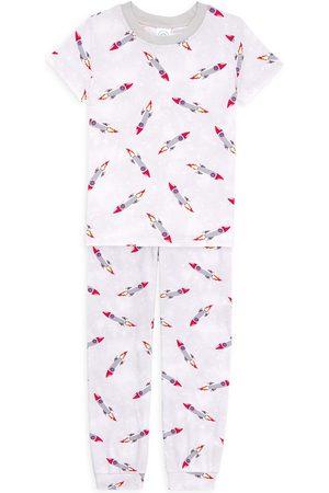 Esme Two-Piece Little Boys & Boy's Rocket Pajama Set