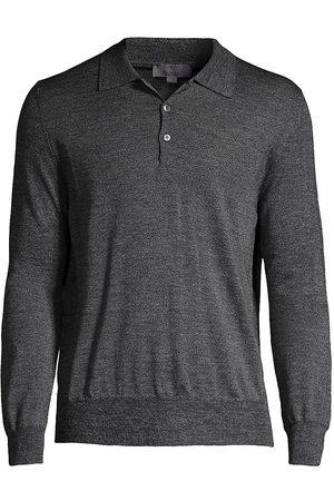 CANALI Merino Wool Long-Sleeve Polo