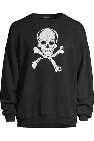 R13 Skull-Print Oversized Sweatshirt