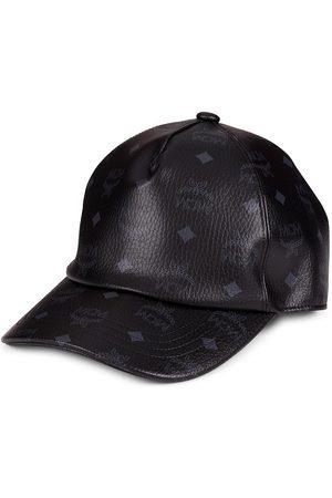 MCM Visetos Monogram Leather Baseball Cap