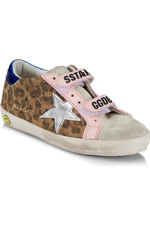 Golden Goose Girls School Shoes - Baby's, Little Girl's & Girl's Old School Leopard Suede Sneakers