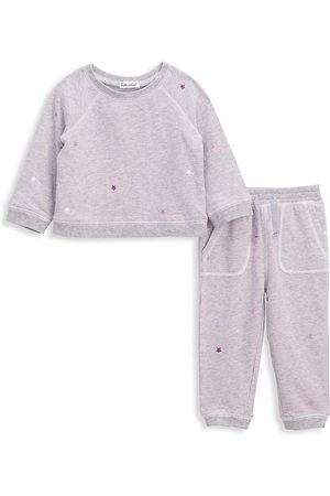 Splendid Baby's & Little Girl's 2-Piece Star Embroidery Joggers Set