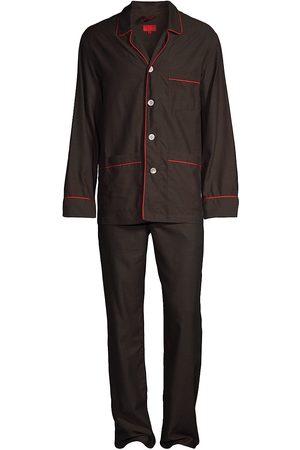ISAIA Pajamas - Cotton Flannel 2-Piece Pajama Set