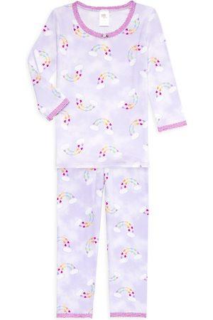Esme 2-Piece Little Girl's & Girl's Rainbow Heart Pajama Set