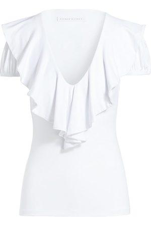 Susana Monaco Ruffle Short Sleeve Top
