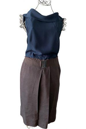 Hood By Air Women Midi Dresses - Linen mid-length dress