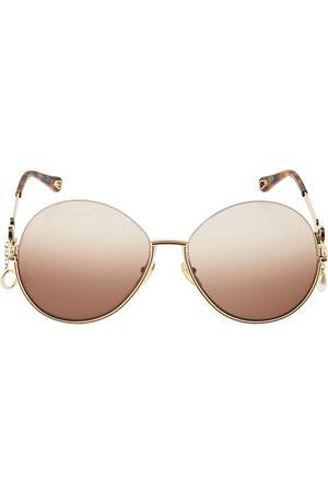 Chloé Women Round - Sofya Round Metal Sunglasses W/ Charms