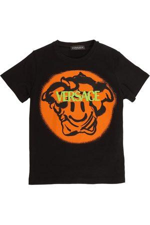 VERSACE Boys T-shirts - Printed Cotton Jersey T-shirt