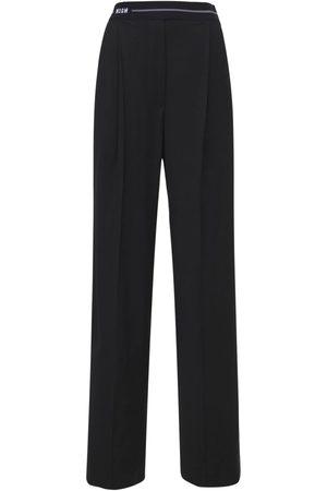 Msgm Women Pants - Cool Wool Blend Pants