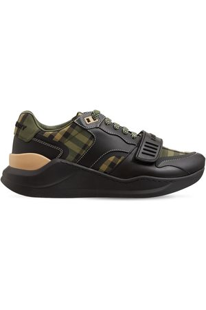 Burberry Women Sneakers - 30mm Ramsey Check & Leather Sneakers