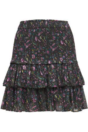 Isabel Marant Naomi Ruffled Printed Cotton Mini Skirt