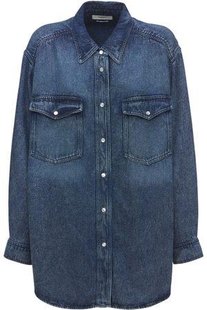 Isabel Marant Women Denim - Tania Oversized Lyocell Denim Shirt