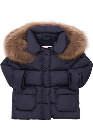 Il gufo Nylon Down Coat W/ Fur Trim