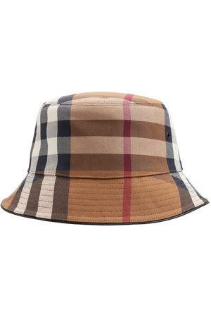 Burberry Men Hats - Check Cotton Canvas Bucket Hat