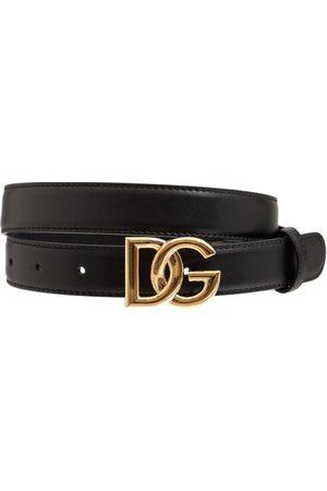 Dolce & Gabbana Women Belts - 2cm Dg Leather Crossed Belt