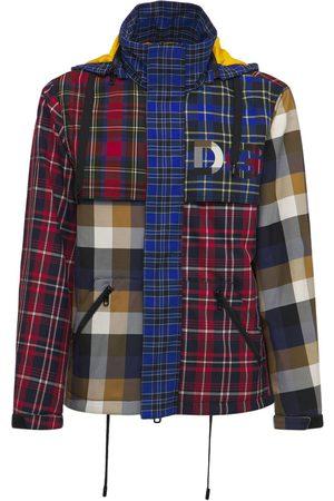 Dolce & Gabbana Logo Hooded Patchwork Gabardine Jacket