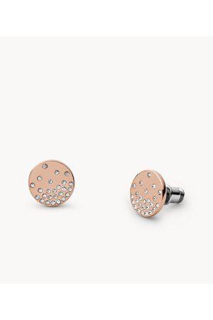 Womens Skagen Women's Elin Rose-Tone Stainless Steel Stud Earrings