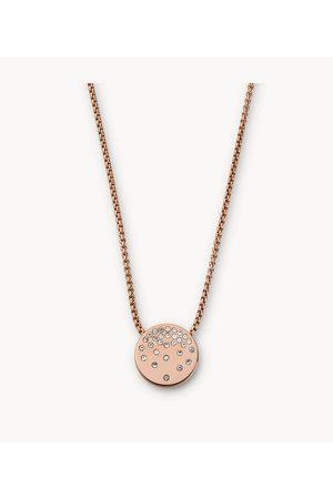 Womens Skagen Women's Elin Rose-Tone Stainless Steel Pendant Necklace
