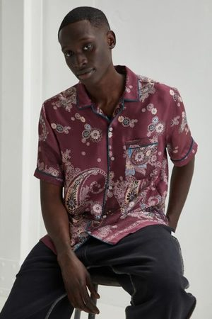 Standard Men Shirts - Piped Satin Twill Shirt