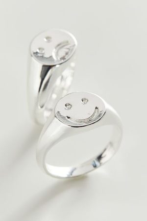 Urban Outfitters Women Rings - Happy And Sad Ring Set