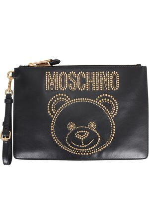 Moschino Teddy pouch with studs