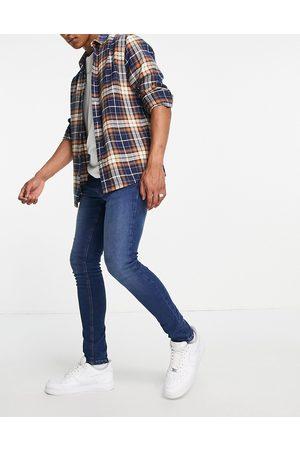 LDN DNM Men Skinny - Super skinny fit jeans in blue wash-Blues