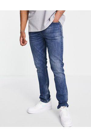 LDN DNM Men Slim - Slim fit jeans in mid blue wash-Blues
