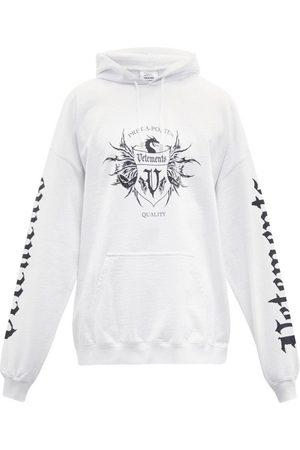Vetements Label Logo Hoodie White