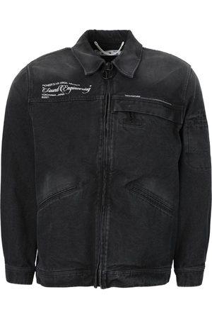 OFF-WHITE X Pioneer Sound Engineering Zipped Denim Jacket Black