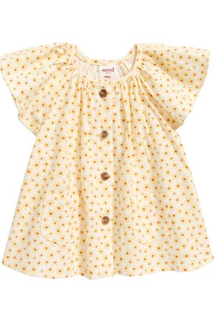 seed heritage Infant Girl's June Bug Ditsy Ruffle Top