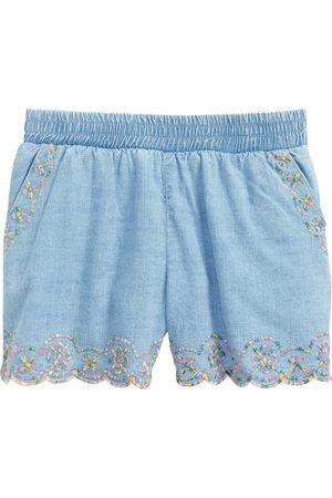 Peek Aren't You Curious Toddler Girl's Kids' Isabella Embroidered Cotton Shorts