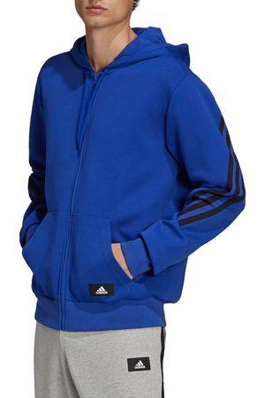 adidas Men's 3-Stripes Front Zip Fleece Hoodie