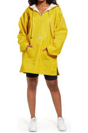 CROSS COLOURS Women's Gender Inclusive Pinstripe Cotton Poncho