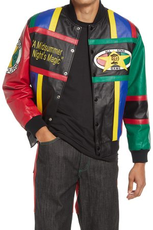 CROSS COLOURS Men's Gender Inclusive Midnight Summers Magic Leather Jacket