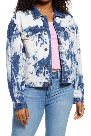 BP. Women's Bleach Overdye Denim Jacket