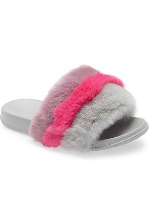 Treasure & Bond Girl's Scarlette Faux Fur Slide Sandal