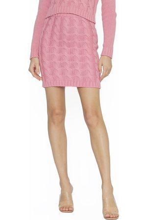 4SI3NNA Women's Penelope Cable Stitch Skirt