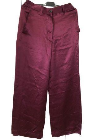 ANN DEMEULEMEESTER Silk straight pants