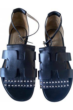 Hermès Santorini leather sandal
